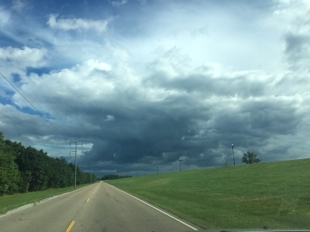 road, storm, delta, clouds, cloud, cloudy, stormy